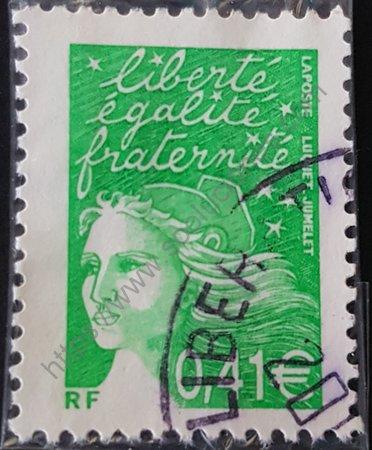 Estampilla de Francia año 2002 Marianne valor 0,41€