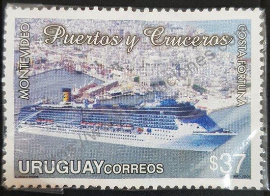 Sello crucero Costa Fortuna en Montevideo Uruguay 2006
