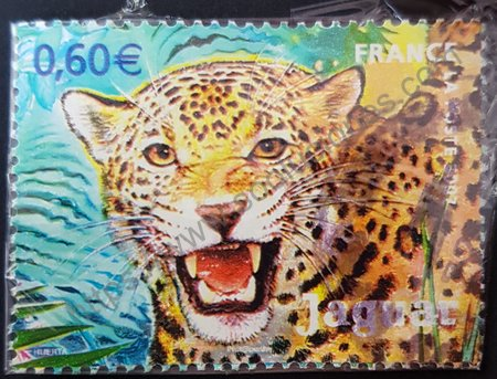 Sello de Francia 2007 Jaguar, Panthera onca