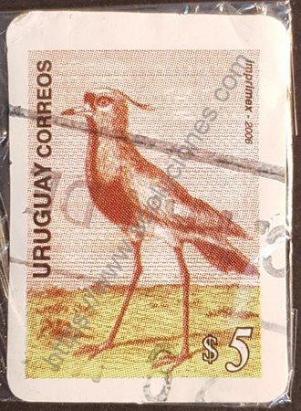 Sello Vanellus chilensis Uruguay 2006 - Tero