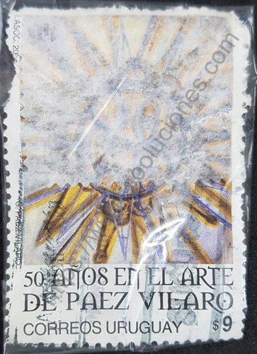 Sello sol de Páez Vilaró 50 aniv. primera exposición