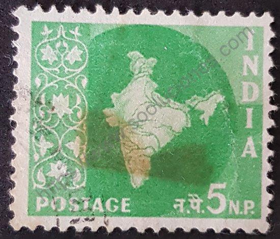 Estampilla de India mapa del país año 1958