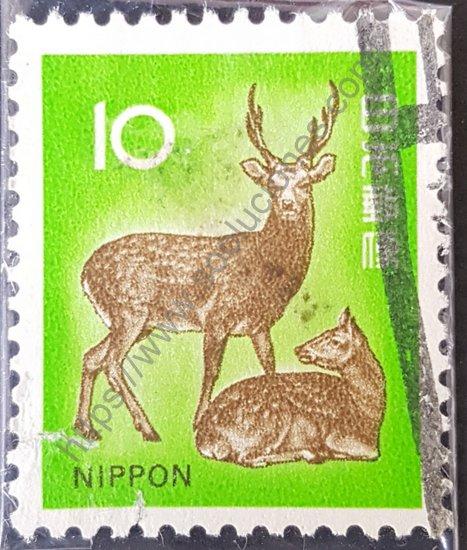 Estampilla de Japón Cervus nippon año del 1972