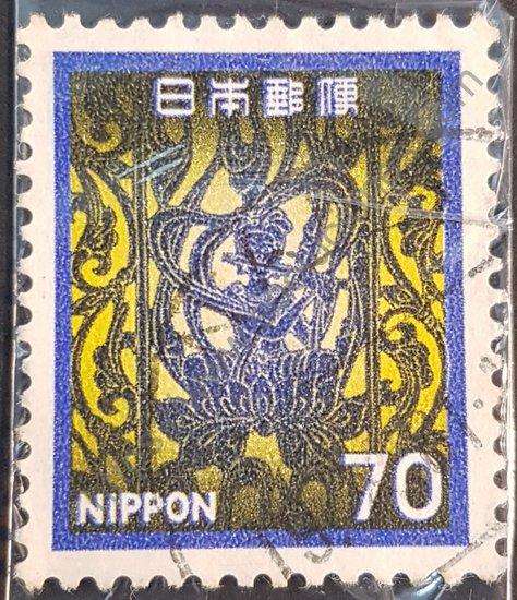 Estampilla del templo de Horyuji en Japón del año 1980