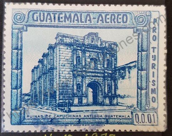 Sello Monasterio Capuchinas Guatemala año 1972
