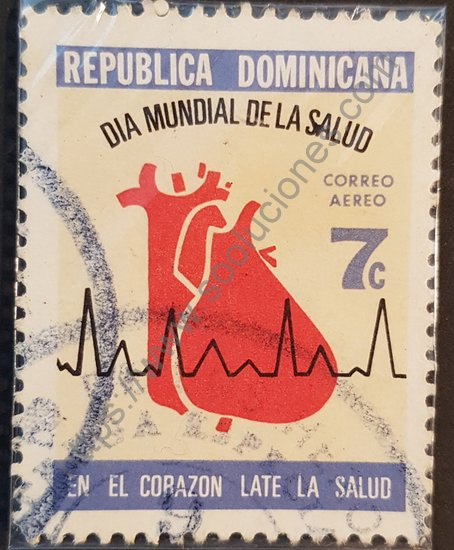 Día mundial de la salud sello conmemorativo República Dominicana