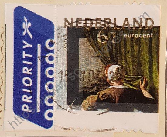 Estampilla de Holanda Gabriel Metsu sello año 2004