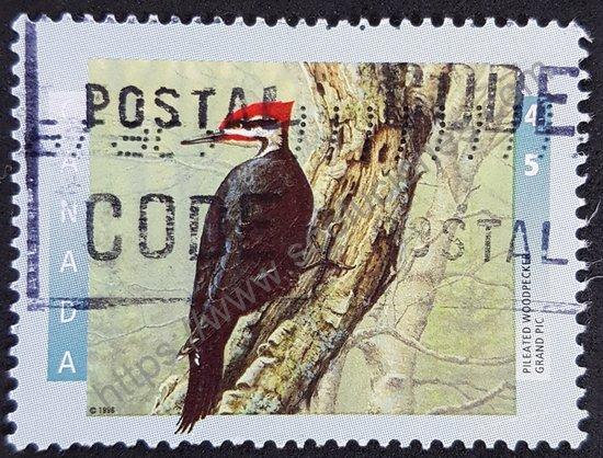 Estampilla: Pájaro carpintero Canadá 1996