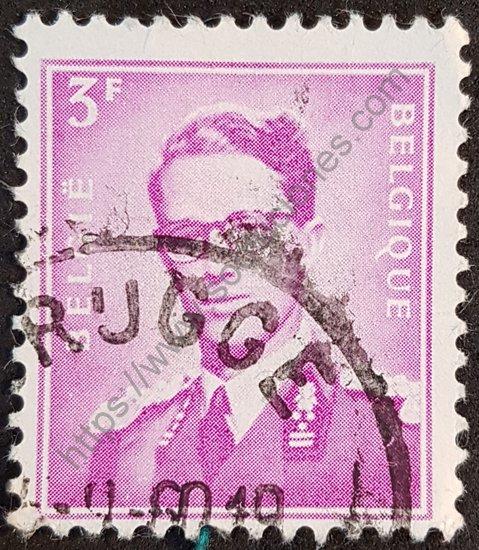 Baudouin I sello de Bélgica 1965 serie básica.