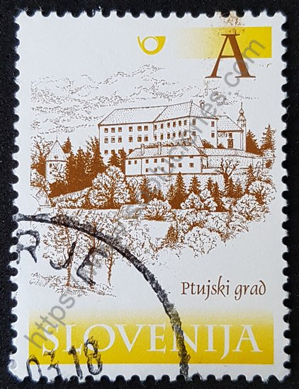 Estampilla Eslovenia Castillo Ptuj del año 2000