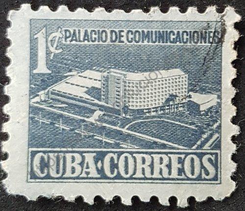 Sello Palacio Comunicaciones Cuba año 1952
