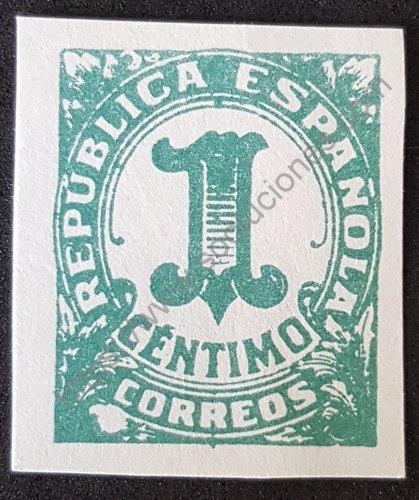 Filatelia España 1933 cifras serie con números