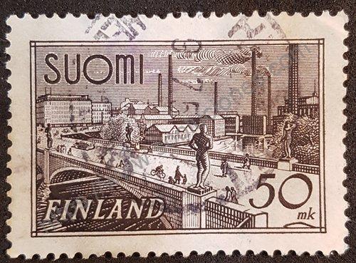 Estampilla Puente Hämeensilta en Tampere 1948