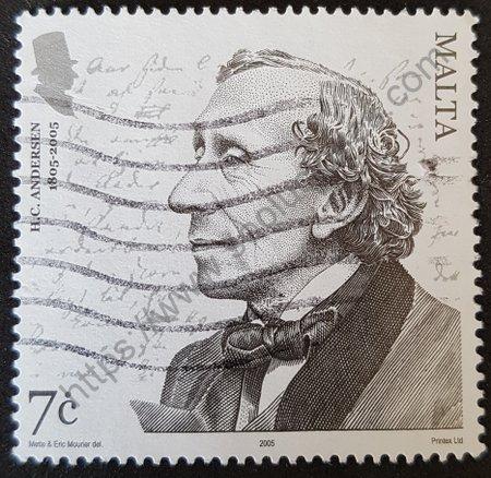 Bicentenario nacimiento Christian Andersen. Sello Malta 2005