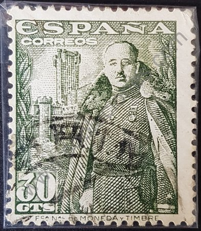 Estampilla Francisco Franco 1954 España