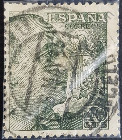 Estampilla Franco año 1950 valor 40 céntimos