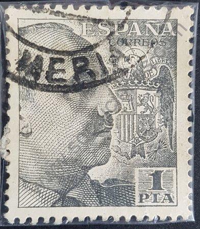 Estampilla del General Franco variante 1951 España