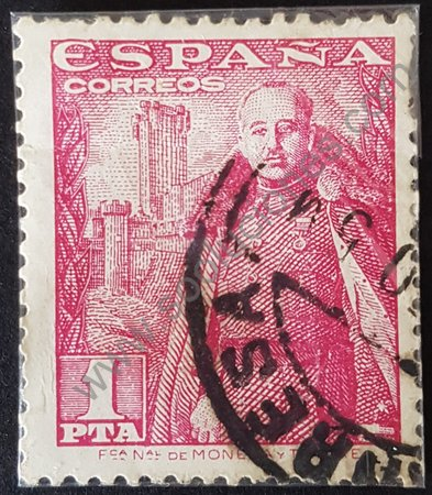 Estampilla Francisco Franco 1948 España 1pta.