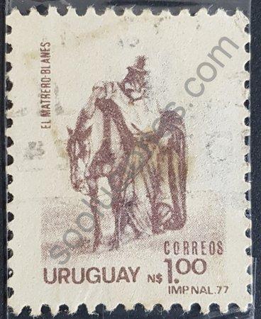 Sello de Uruguay 1979 El matrero de J. M. Blanes