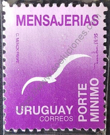 Estampilla mensajerías de Uruguay año 1995