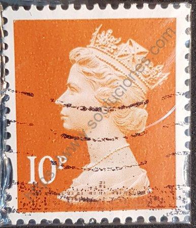 Estampilla Elizabeth II año 2010 Reino Unido. Valor facial 10 peniques.