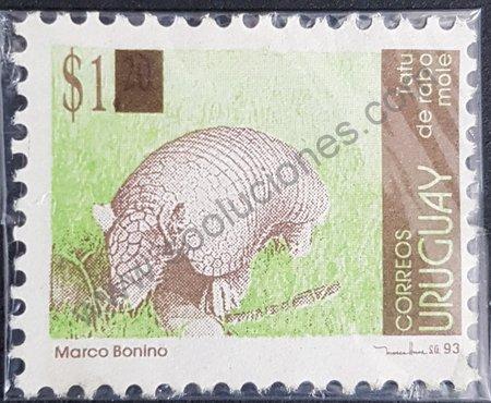 Estampilla de Tatú Uruguay año 2004 variante