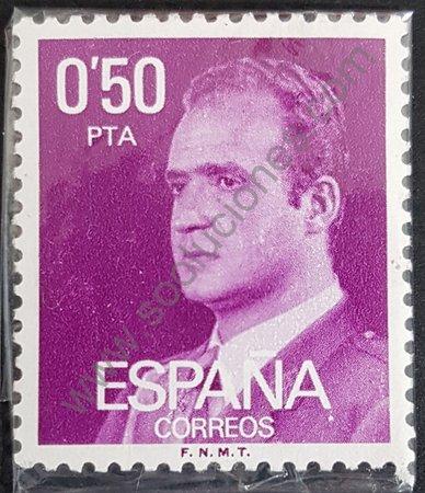Sello Rey J. Carlos España 1977 valor 050 pta