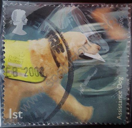 Sellos postales perros de asistencia Reino Unido año 2008