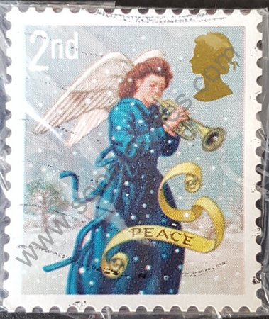 Estampilla de 2007 Reino Unido Angel tocando trompeta