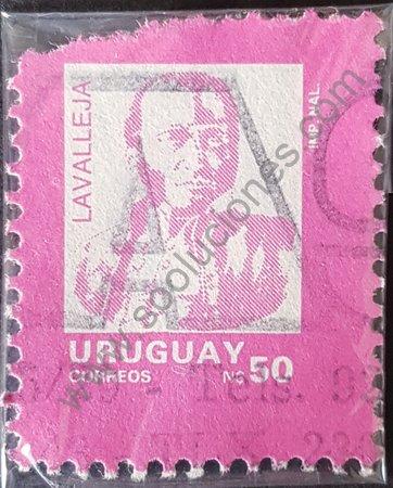 Juan Antonio Lavalleja sello de Uruguay 1989