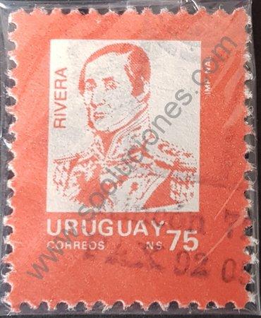 Sello de Fructuoso Rivera Uruguay año 1989