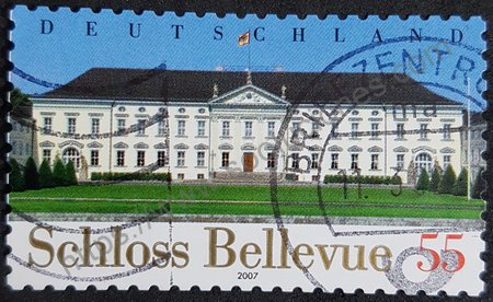 Estampilla Castillo Bellevue en Berlín. Alemania 2007