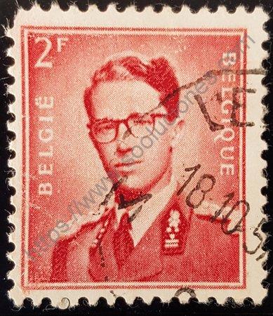 Estampilla Bélgica 1953 Baudouin I valor 2 fr.