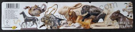 Los animales en el arte estampillas Francia 2013
