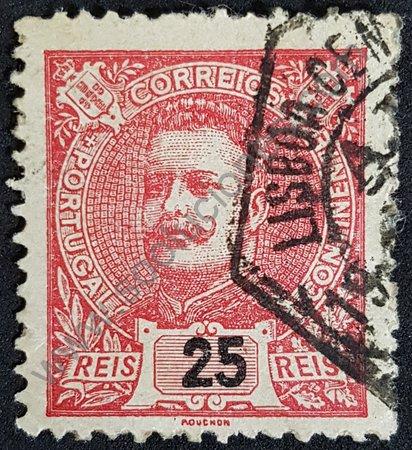 Estampilla Carlos I de Portugal año 1899 valor 25