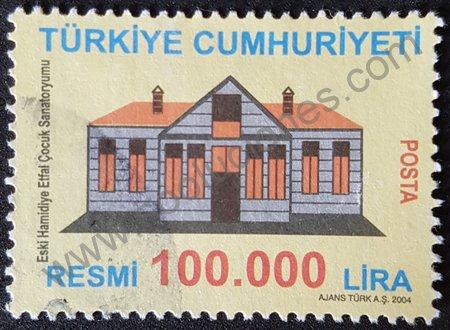 Estampilla sanatorio Hamidiye Etfal Turquía 2004