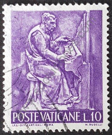Estampilla músico de Ciudad del Vaticano año 1966