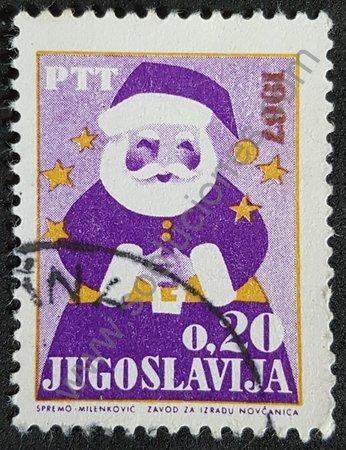 Estampilla año nuevo 1966 Yugoslavia - Papa Noel