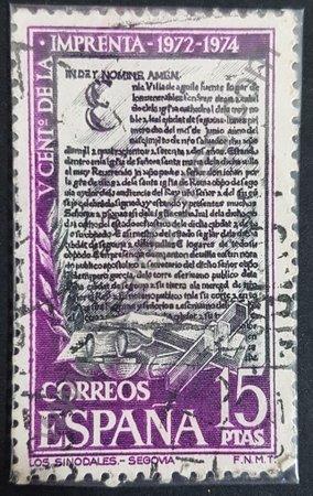 V centenario de la imprenta sello de España 1973