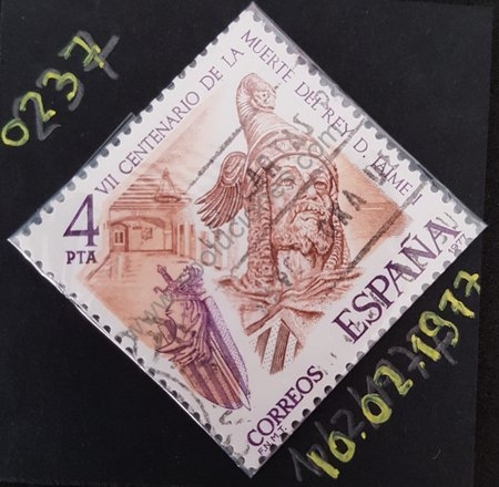 Rey Jaime I sello VII centenario muerte