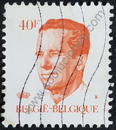 Estampilla Bélgica de 1984 Rey Baudouin