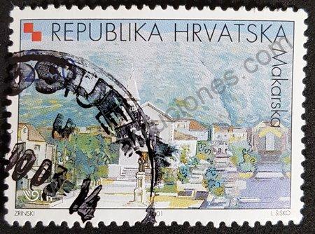 Estampilla de Makarska en Croacia 2006