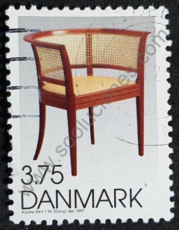 Estampilla de Dinamarca 1997 silla Faaborg
