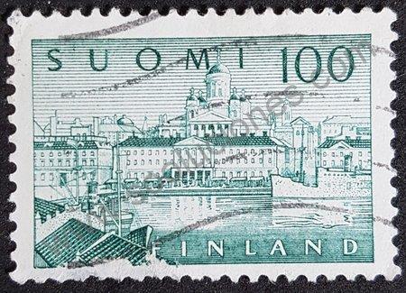 Estampilla puerto de Helsinki año 1958