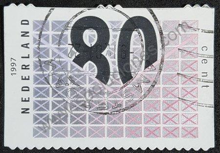 Sello de Holanda 1997 número estilizado
