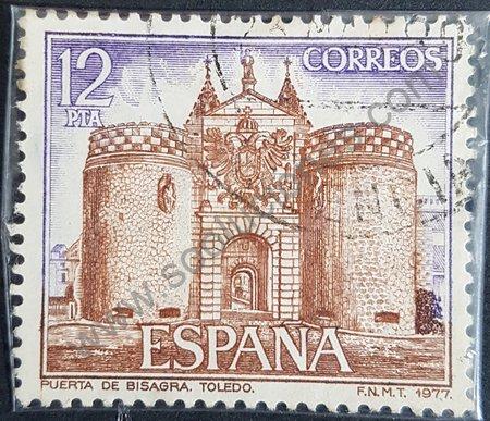 Estampilla España 1977 Puerta Bisagra de Toledo