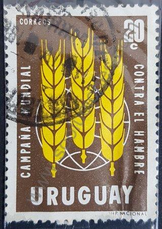 Sello Uruguay 1963 Campaña contra el hambre