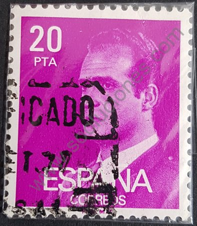 Sello España 1977 de 20 Pta. Rey Juan Carlos