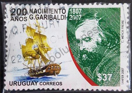 Sello de Giuseppe Garibaldi Uruguay 2007