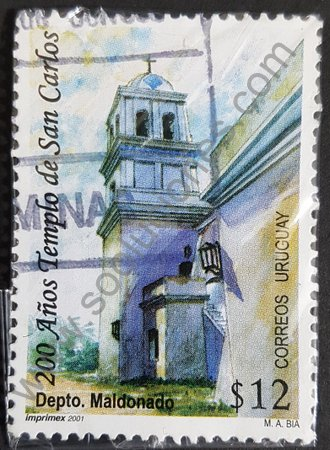 Sello Iglesia San Carlos Uruguay 2001